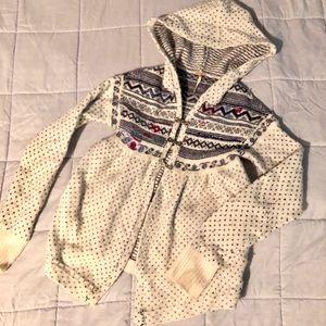 Free People Fair Isle Nordic Wool Sweater Hoodie S